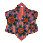 Colorful Floral Dream Ornament (Snowflake)  Front