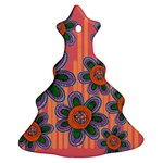 Colorful Floral Dream Christmas Tree Ornament (2 Sides) Front
