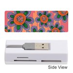 Colorful Floral Dream Memory Card Reader (Stick)  Front