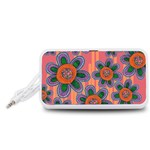 Colorful Floral Dream Portable Speaker (White)  Front