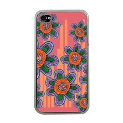 Colorful Floral Dream Apple iPhone 4 Case (Clear)