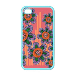 Colorful Floral Dream Apple Iphone 4 Case (color)