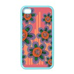 Colorful Floral Dream Apple iPhone 4 Case (Color) Front