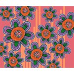 Colorful Floral Dream Deluxe Canvas 14  x 11  14  x 11  x 1.5  Stretched Canvas