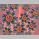Colorful Floral Dream Deluxe Canvas 16  x 12   16  x 12  x 1.5  Stretched Canvas
