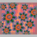 Colorful Floral Dream Deluxe Canvas 24  x 20   24  x 20  x 1.5  Stretched Canvas
