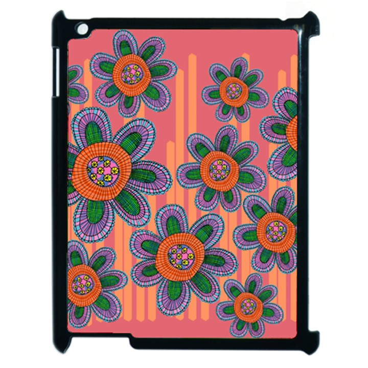 Colorful Floral Dream Apple iPad 2 Case (Black)