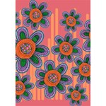 Colorful Floral Dream GIRL 3D Greeting Card (7x5) Inside