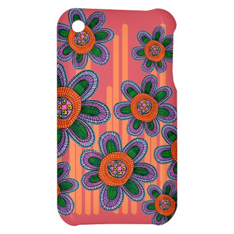 Colorful Floral Dream Apple iPhone 3G/3GS Hardshell Case