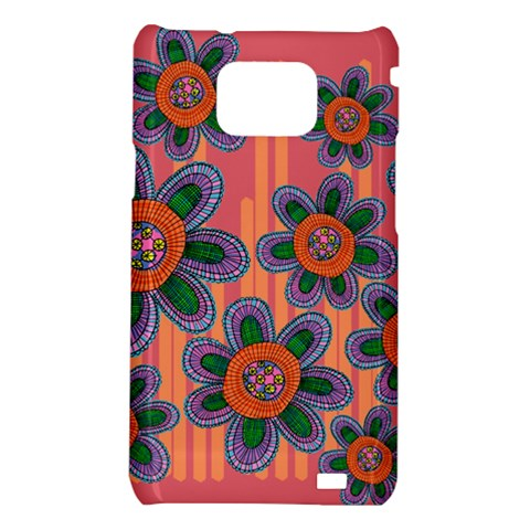 Colorful Floral Dream Samsung Galaxy S2 i9100 Hardshell Case