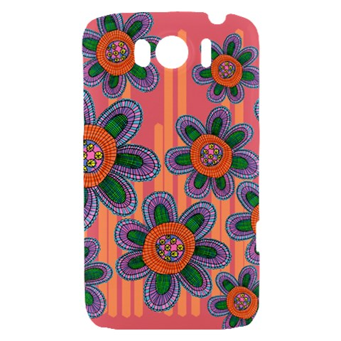 Colorful Floral Dream HTC Sensation XL Hardshell Case