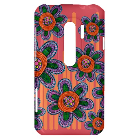 Colorful Floral Dream HTC Evo 3D Hardshell Case