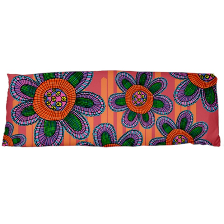 Colorful Floral Dream Body Pillow Case (Dakimakura)