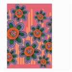 Colorful Floral Dream Small Garden Flag (Two Sides) Back