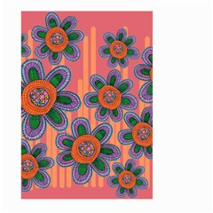 Colorful Floral Dream Large Garden Flag (two Sides)