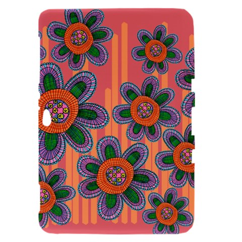Colorful Floral Dream Samsung Galaxy Tab 8.9  P7300 Hardshell Case