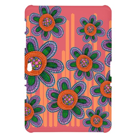 Colorful Floral Dream Samsung Galaxy Tab 10.1  P7500 Hardshell Case