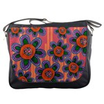Colorful Floral Dream Messenger Bags Front