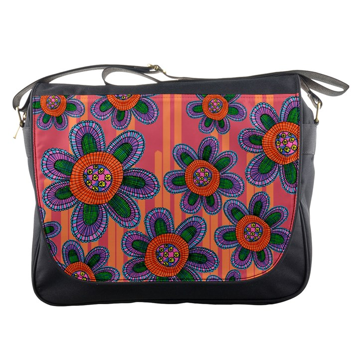 Colorful Floral Dream Messenger Bags