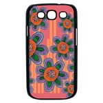 Colorful Floral Dream Samsung Galaxy S III Case (Black) Front