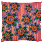 Colorful Floral Dream Large Cushion Case (Two Sides) Front