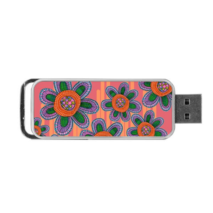 Colorful Floral Dream Portable USB Flash (One Side)