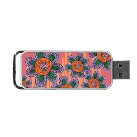 Colorful Floral Dream Portable USB Flash (Two Sides)