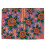 Colorful Floral Dream Cosmetic Bag (XXL)  Front