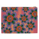 Colorful Floral Dream Cosmetic Bag (XXL)  Back