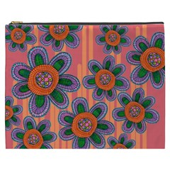 Colorful Floral Dream Cosmetic Bag (XXXL)