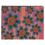 Colorful Floral Dream Cosmetic Bag (XXXL)  Back