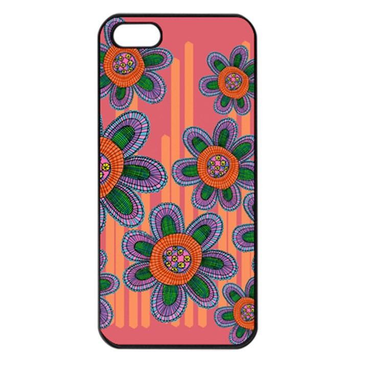 Colorful Floral Dream Apple iPhone 5 Seamless Case (Black)