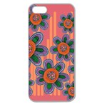 Colorful Floral Dream Apple Seamless iPhone 5 Case (Clear) Front