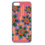 Colorful Floral Dream Apple Seamless iPhone 5 Case (Color) Front