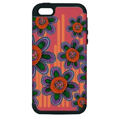 Colorful Floral Dream Apple Iphone 5 Hardshell Case (pc+silicone)
