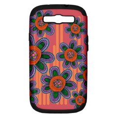Colorful Floral Dream Samsung Galaxy S III Hardshell Case (PC+Silicone)