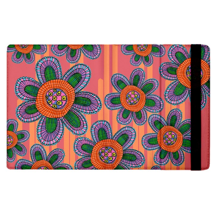 Colorful Floral Dream Apple iPad 3/4 Flip Case