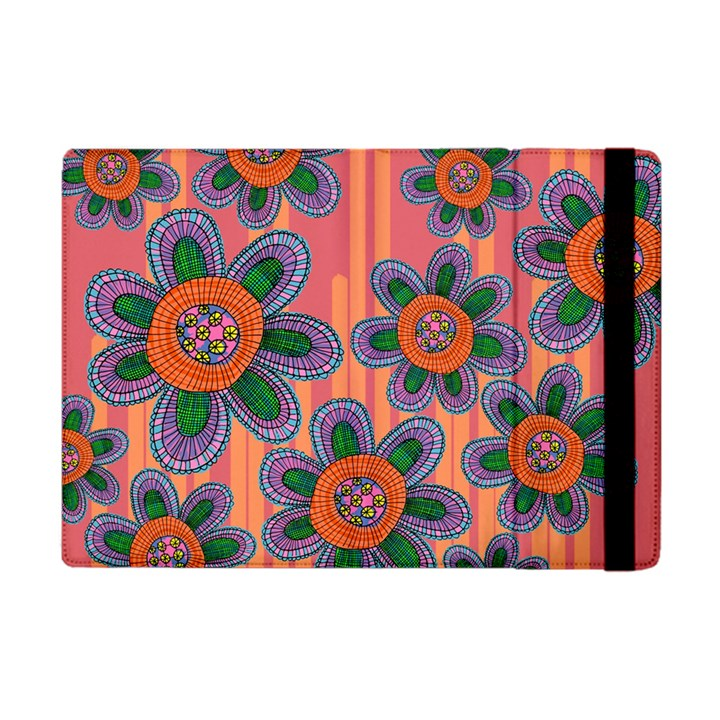 Colorful Floral Dream Apple iPad Mini Flip Case