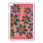Colorful Floral Dream Apple iPad Mini Case (White) Front