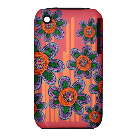 Colorful Floral Dream Apple iPhone 3G/3GS Hardshell Case (PC+Silicone)
