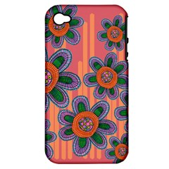 Colorful Floral Dream Apple iPhone 4/4S Hardshell Case (PC+Silicone)