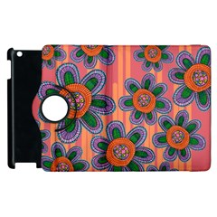 Colorful Floral Dream Apple Ipad 3/4 Flip 360 Case