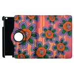 Colorful Floral Dream Apple iPad 3/4 Flip 360 Case Front