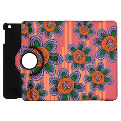 Colorful Floral Dream Apple Ipad Mini Flip 360 Case