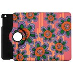 Colorful Floral Dream Apple iPad Mini Flip 360 Case Front