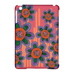 Colorful Floral Dream Apple iPad Mini Hardshell Case (Compatible with Smart Cover)