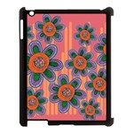 Colorful Floral Dream Apple iPad 3/4 Case (Black) Front