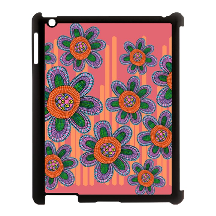 Colorful Floral Dream Apple iPad 3/4 Case (Black)