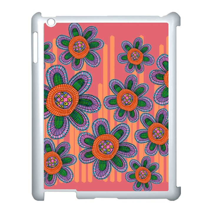 Colorful Floral Dream Apple iPad 3/4 Case (White)