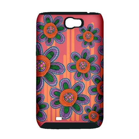 Colorful Floral Dream Samsung Galaxy Note 2 Hardshell Case (PC+Silicone)
